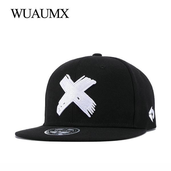 Wuaumx YENI Markalı X Nakış Kadınlar Erkekler Için Klasik Beyzbol Şapkası Snapback Kapaklar Donatılmış Hip Hop Dansçı Şapka Casquette Toptan # 17565