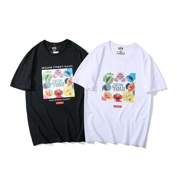 2019 новый высокого класса моды пара с короткими рукавами отворотом футболка поло 751942600501276