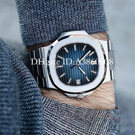 U1 Factory Movement Engraved Automatic Mechanic Men Watch Stainless Steel Strap Nautilus High Quality pp Watch Sports Wristwatch montre