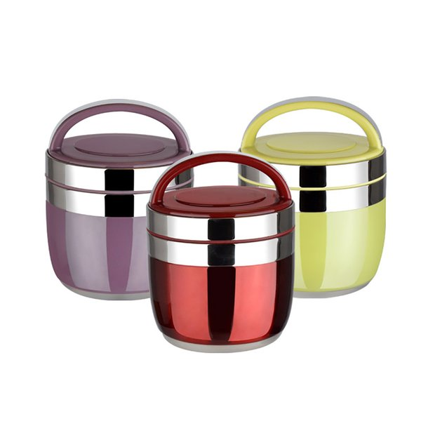 top popular New 1.5 1.2L Stainless Steel Food Thermos 6-12 Hours Vacuum Lunch Box Thermo Container Soup Jar Insulated Thermoses T200429 2021