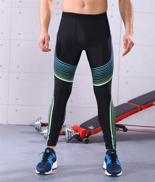jigerjoger sports pants men's running leggings fitness tights ambilight stripe lines print basketball compression tights outfits - from $25.50