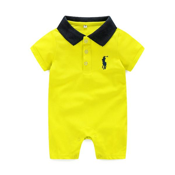 designer Baby Rompers Retail New arrival Cotton baby boy girl jumpsuit summer short sleeve costume Jumpsuits Roupas Bebes Infant Clothing