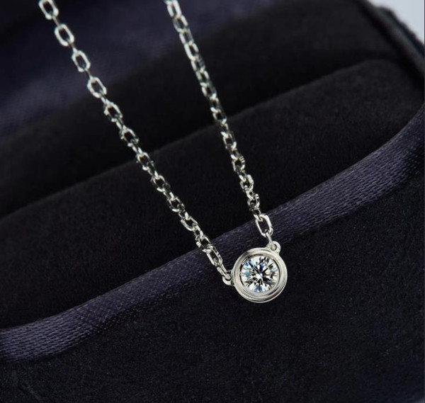 collana di diamante 925 18k placcato oro coda femminile regalo scintillante otto cuori otto frecce diamante carbonio
