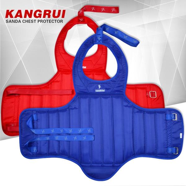 Sanda Vest Guarda MMA Taekwondo Taekwondo Karate No Peito Protetor Adulto Crianças Vermelho Azul Oxford Peito Guarda Corpo Engrenagem # 296249