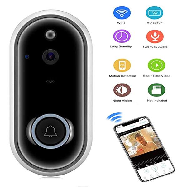 Videocitofono campanello con campanello senza fili intelligente per campanello WiFi 1080P Home Security