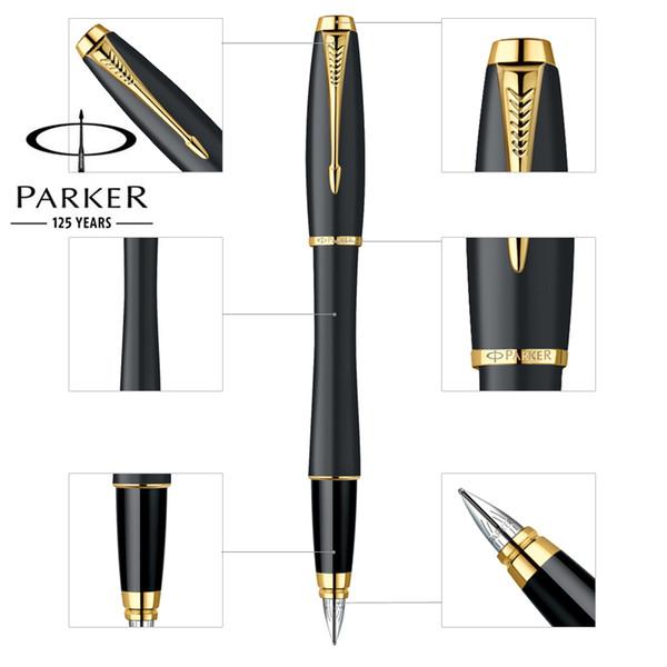 Бизнес Паркер городской авторучка золото / серебро клип матовый черный ручка офис школа письменные принадлежности канцелярские