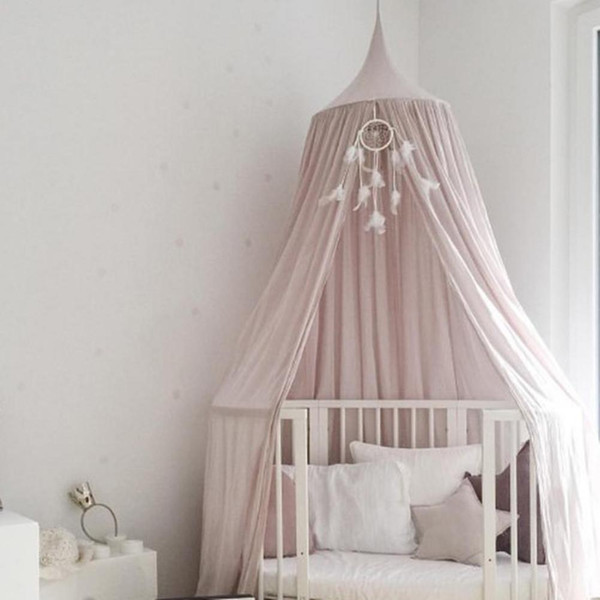 Kids Home Cotton Hanging Bedroom Bed Curtain Mosquito Net Canopy Baby Dome Tent hot