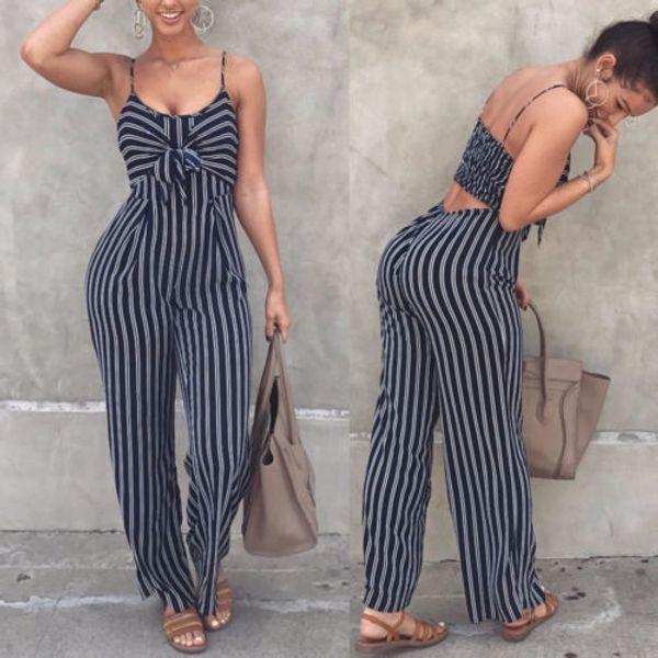 2019 neueste Mode Hot Sexy Damen Frauen Clubwear Overall Body Party Overall Strampler Hohe Qualität Ärmellose Lange Hosen