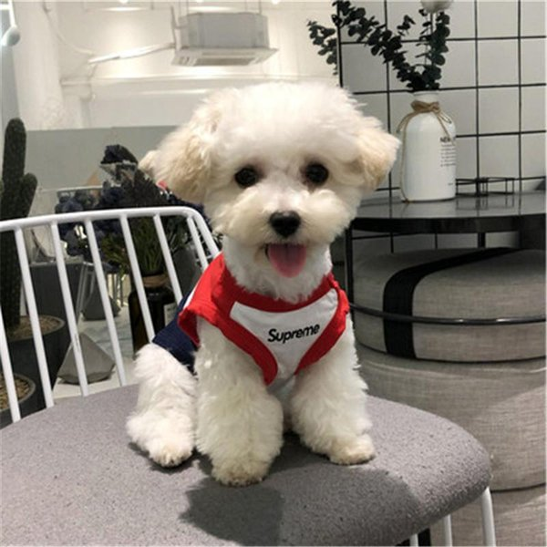 Abbigliamento casual per cani in cotone di alta qualità Teddy Cat Logo popolare Abbigliamento per cani Primavera ed estate T-Shirt a maniche corte per animali domestici Stile sottile