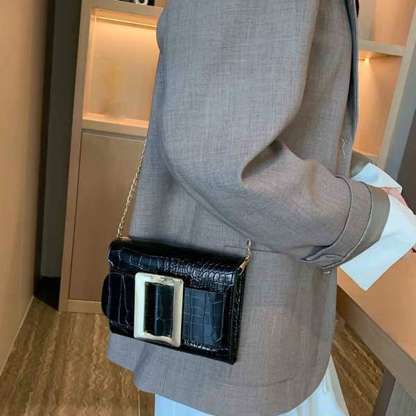 Elegant Women Simple Shoulder Bag Personality Stone Pattern Messenger Bag Tote Soft Handbag Female Purses 2019 Versatile 30H