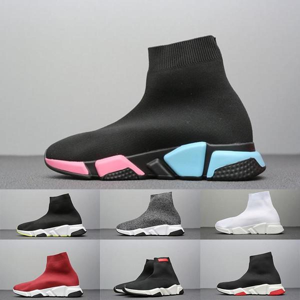 ACE 2020 Diseñador Speed Trainer calcetín Botas Triple Negro Azul Gris Rojo Racer calcetines para hombre de la zapatilla de deporte de las mujeres Utilidad Formadores chaussette Casual zapatos