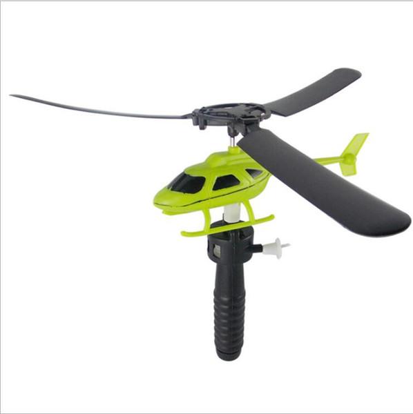 Maniglia Tirare l'aereo Giocattolo modello Aereo Elicottero Regalo Aviazione Divertente Carino Giocattoli da esterno di alta qualità per bambini Gioco da bambini LXL78