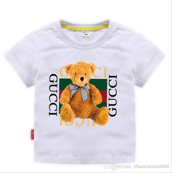 best selling 2019 New Designer Brand 2-8T Years Old Baby Boys Girls T-shirts Summer Shirt Tops Children Tees Kids shirts Clothing