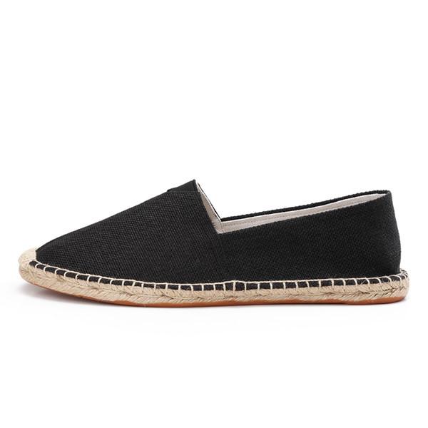 Loafer Düz Hardwork Kadın Ayakkabı için Kapalı Toe Nefes Kayma-On Rahat Espadrilles Konfor Straw Ayakkabı