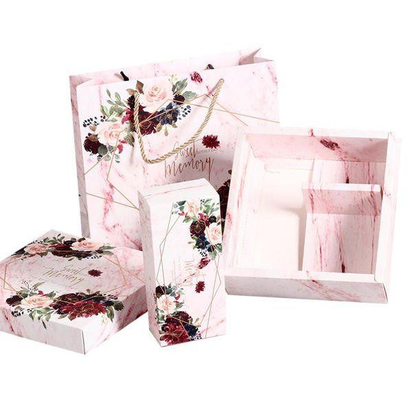 Coffret cadeau de mariage de sucrerie Champagne anniversaire de demoiselle d'honneur Proposition Boîte showers de mariage parfait Parties de Bachelorette Sac en papier