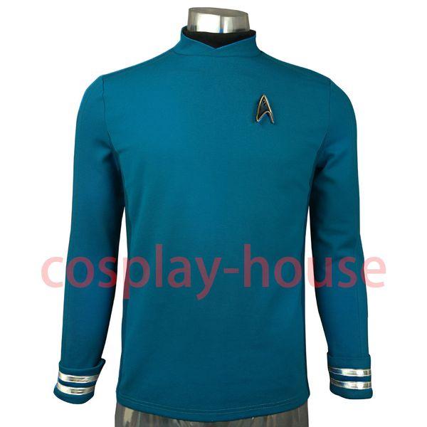 Accessories Cosplay Costumes Cosplay Costume Star Trek Beyond Costumes Red Captain Kirk Uniform Spock Blue Uniform Scotty Yellow