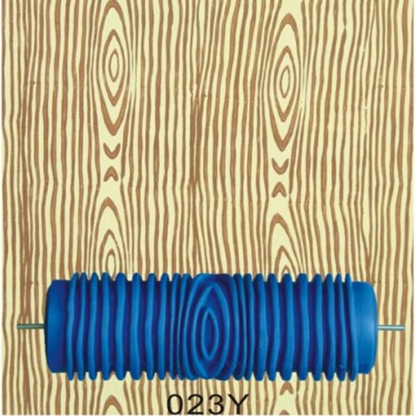Herramientas de mano para el hogar: rodillo de pintura de pared de goma de 5 pulgadas, 023Y, rodillo de patrón de veta de madera azul sin empuñadura, envío gratis