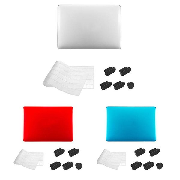 VODOOL 3 in 1 Crystal Case Cover+ TPU Keyboard Protective Film + Dust Plug for MacBook Air A1932 Crystal Hard Case