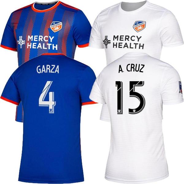 19-20 thai quality MLS Men FC Cincinnati home soccer jerseys 2019 2020 MLS GARZA WASTON BERTONE ADI football Running Jerseys