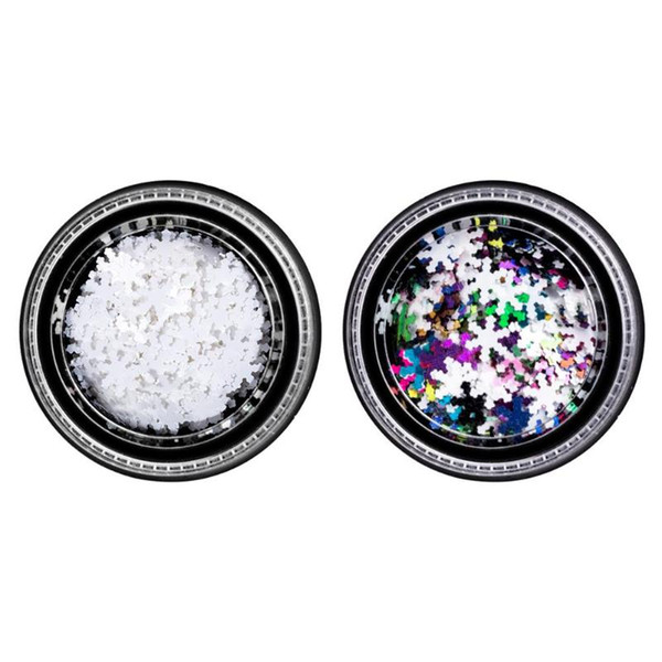 Christmas Snowflake 3D Nail Sequins Nail Glitter Flakes Ultra thin DIY Shimmer Charm Art Decorations Manicure Sticker Decal