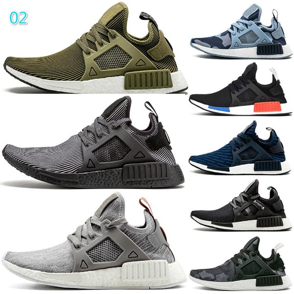 Cheap XR1 running shoes Black Green Navy camo outdoor mens casual shoes Olive green womens designer trainers men shoes 3A 15