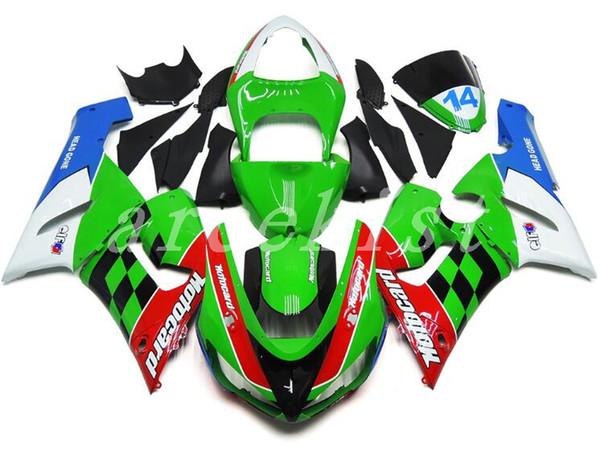 Neue ABS-Verkleidungssätze passen für Kawasaki Ninja 636 ZX-6R ZX6R 05 06 2005 - 2006