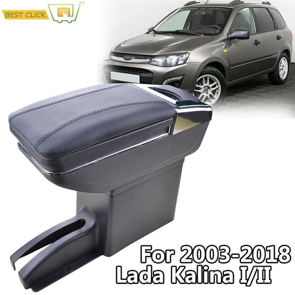 Car Armrest Arm Rest Rotatable For Lada Granta 2012 - 2018 Kalina Center Centre Console Storage Box 2017