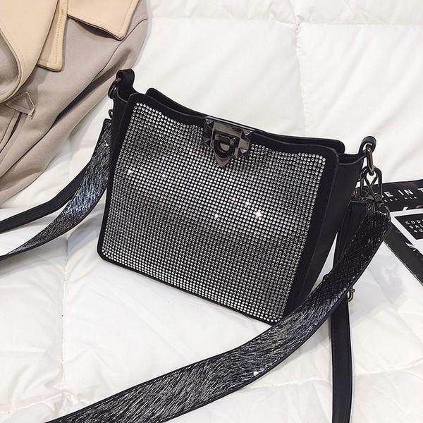2019 new Fashion trend handbags street casual ladies shoulder bag Messenger bag solid color wild female bag xingqiwu/3