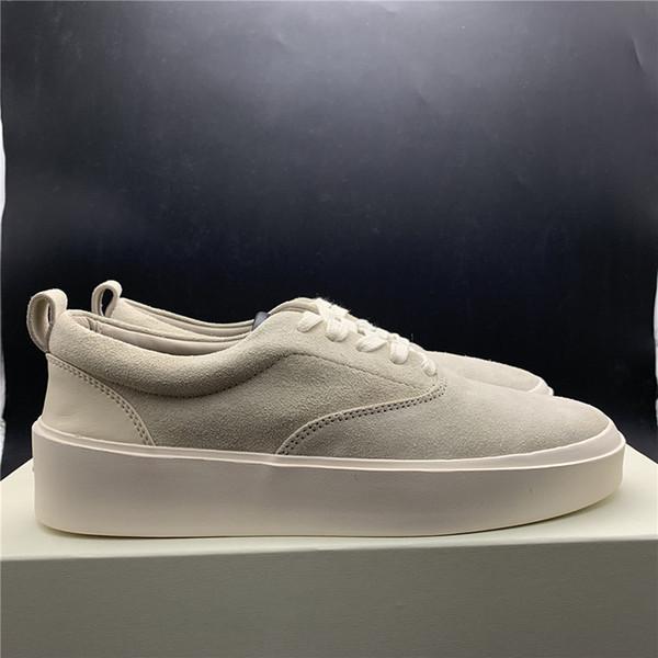 Mais novo medo de deus x mens sapatos casuais a temporada 5 camurça sapatos de skate itália luxo slip-on fox sapatos de grife de moda