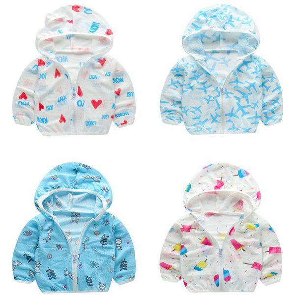 Camicia da protezione estiva da spiaggia Protezione solare da neonato Felpa con cappuccio impermeabile da bambino Abbigliamento da bambino