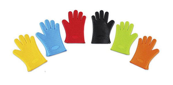 New Arrival Food grade Heat Resistant thick Silicone Kitchen barbecue oven glove Cooking BBQ Grill Glove Oven Mitt Baking glove