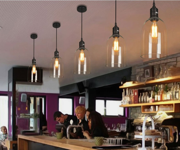Vintage Indoor Pendant Light Glass Hanglamp E27 Industrial Pendant Lamps  Bar Cafe Kitchen Fixtures Luminaire Ceilinglighting LLFA Modern Pendant  Light ...