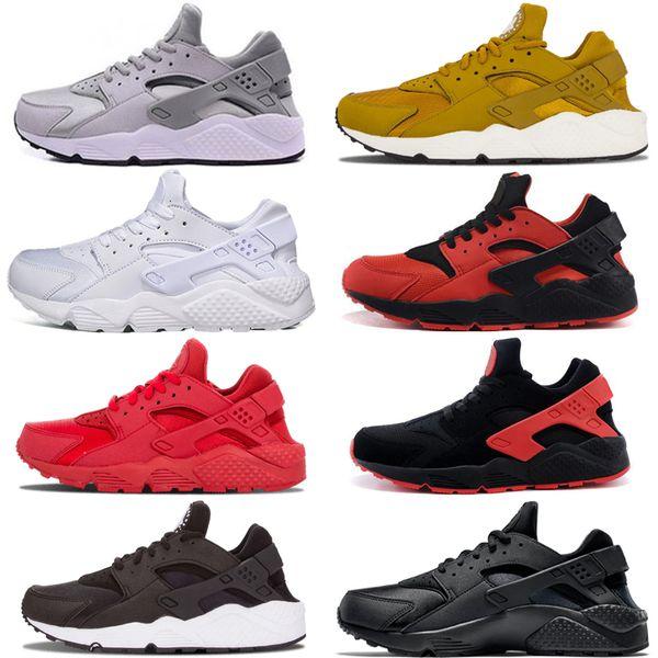 Nike air huarache 1 2018 Pas Cher Air Huarache 2 II Ultra Tous Blancs Et Noirs Huaraches Chaussures Hommes Femmes Baskets Casual Chaussures Taille 36-45 online stoue