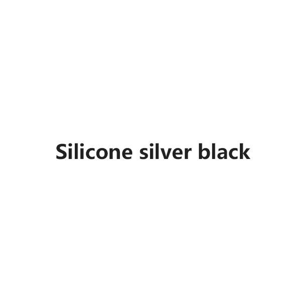 SilverBlack silicone