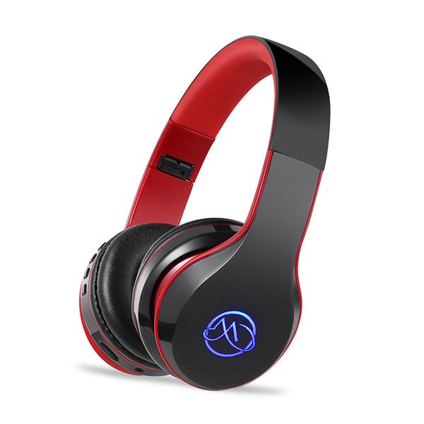 FDBRO BH7 Bluetooth Kulaklık Stereo Bas Kablosuz Kulaklık Mic Ile LED Işık Parlayan Katlanabilir Spor Kulaklık Kulakiçi