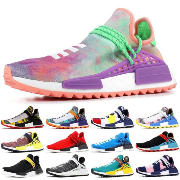 Дизайнерская обувь Human Race Кроссовки Повседневная Pharrell Williams Hu Trail Крем-сердечник Черный Nerd Equality Холи Нобелевские кроссовки для чернил Кроссовки