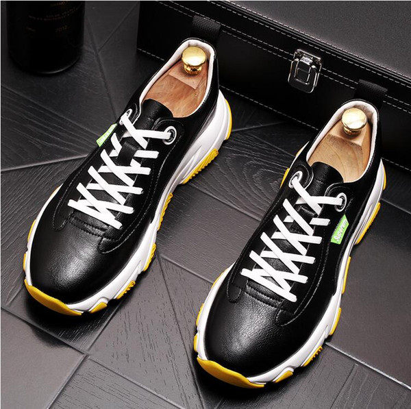 High Quality Leather Men White Wedding Designer Shoes Spring Work Casual Shoes Fashion Flats Oxfords Loafers W140