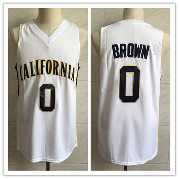 outlet store cf37b 71c82 2019 #0 Jaylen Brown Cal California Golden Bears College White Retro  Classic Basketball Jersey Mens Stitched Custom Number And Name Jerseys From  ...