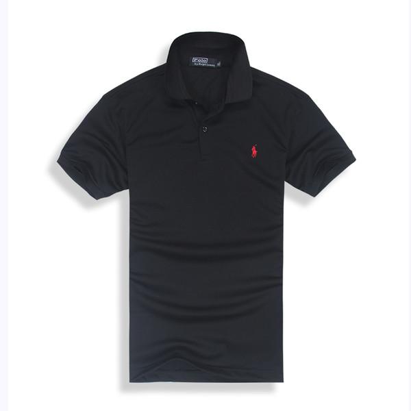 Ropa de marca de algodón caliente Hombres Camisa de polo bordado de cocodrilo Hombres Business Casual sólido polo masculino camisa de manga corta polo transpirable