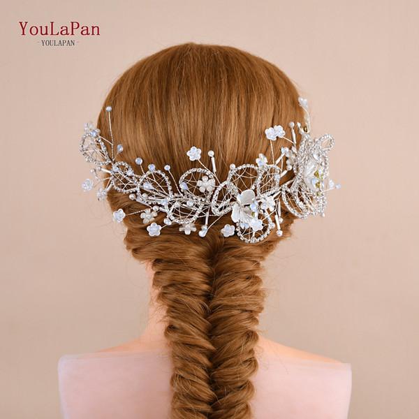 Accessoires cheveux mariée Vintage cheveux accessoires lait strass perle Coiffures formelle Diadem pour la mariée HP246