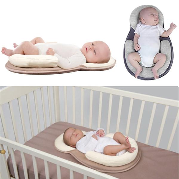 Travesseiro de bebê Recém-nascido Colchão Travesseiro Do Bebê Recém-nascido Almofada de Posicionamento Evitar Forma Plana Cabeça Anti Rolo Travesseiros transporte da gota