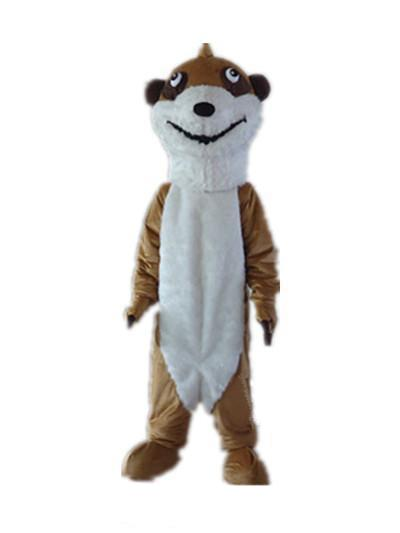 High quality hot the head a thin brown squirrel mascot costume with big eyes for sale