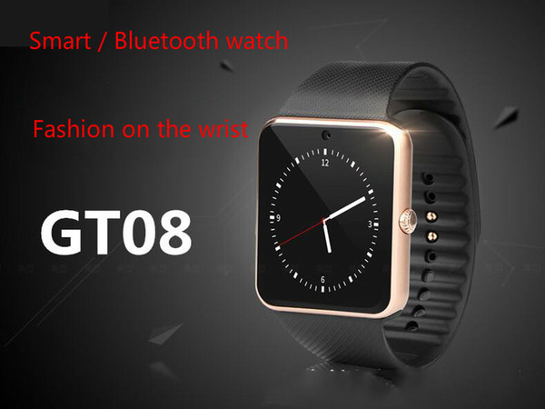 GT08 smart watch card Bluetooth sports instrument gift smart step can call to wear watch, free shipping
