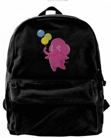 Sweet Kids Nursery Pastel Elephant Cartoon Fashion Canvas designer backpack For Men & Women Teens College Travel Daypack Leisure bag