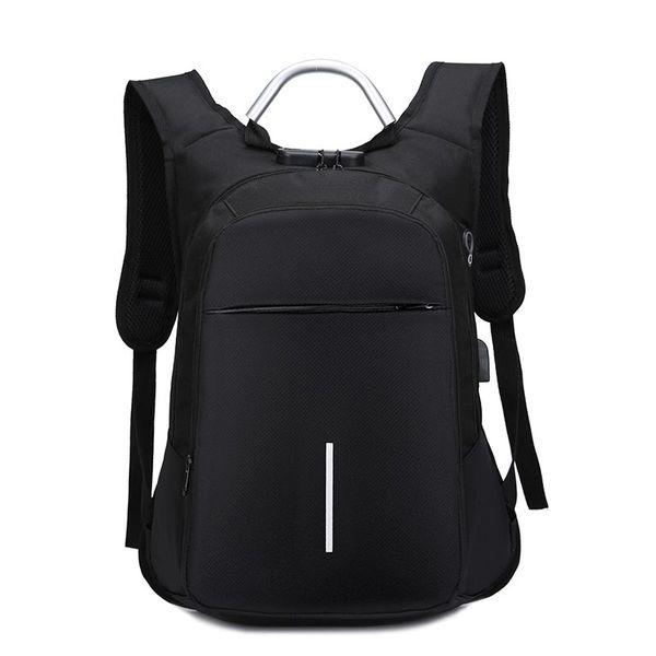 Fashion Students Men Backpack Travel Laptop Backpack Large capacity Shoulder Bag with Antitheft Lock usb charging Headphone plug