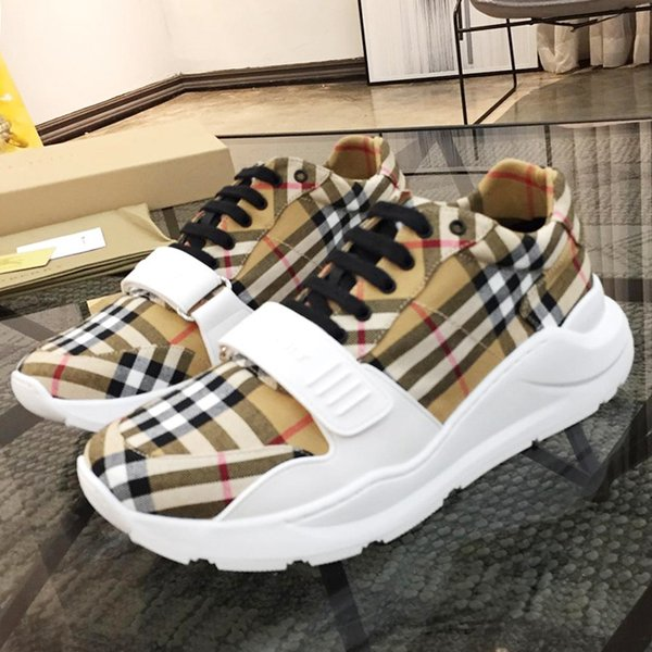 best selling Men Shoes Sneakers Luxury Breathable Sports Runner Shoes Top Quality Sports Casual Shoe Zapatos de hombre Vintage Check Cotton Sneakers BB95