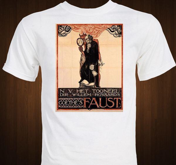 FAUST - Goethe - Versão teatral cartaz - clássico teatro drama tamanho do t-shirt discout hot new tshirt