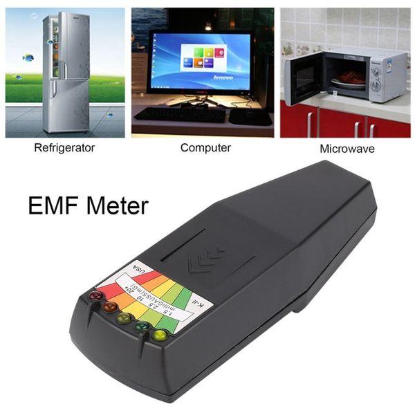 Detector de radiación electromagnética en caliente LCD Medidor de EMF general Medidor de dosímetros para investigación paranormal Medida de exposición nociva