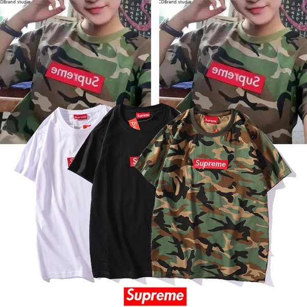 2019 nova Caixa Dos Homens T Camisas de Moda das mulheres Roupas de Impressão a Cores de verão Casual T Shirt Mistura De Algodão Tripulação Pescoço de Manga Curta