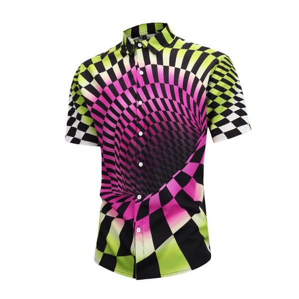 2019Men's business casual shirt men's long sleeve stripe slim fit healthy social men's new fashion plaid shirt #G12